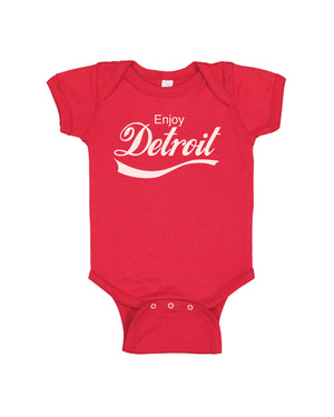 Enjoy Detroit Baby Onesie - Red