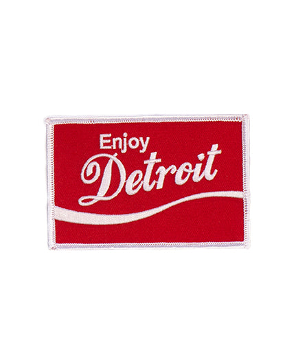 Enjoy Detroit Iron On Patch - The Great Lakes State