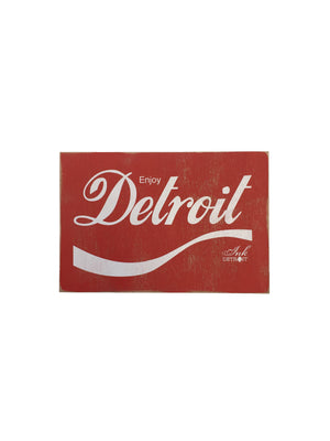 Enjoy Detroit Rustic Wood Sign