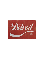 Enjoy Detroit Rustic Wood Sign - The Great Lakes State