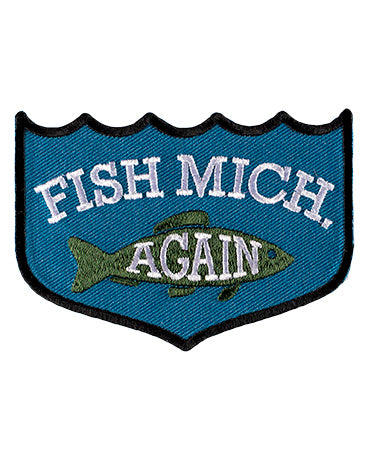 Fish Michigan iron on patch - The Great Lakes State