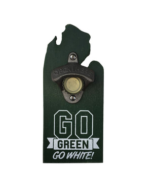 Go Green Go White! Beer Bottle Opener