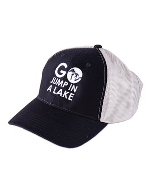Go Jump In A Lake - Hat - Navy & Grey