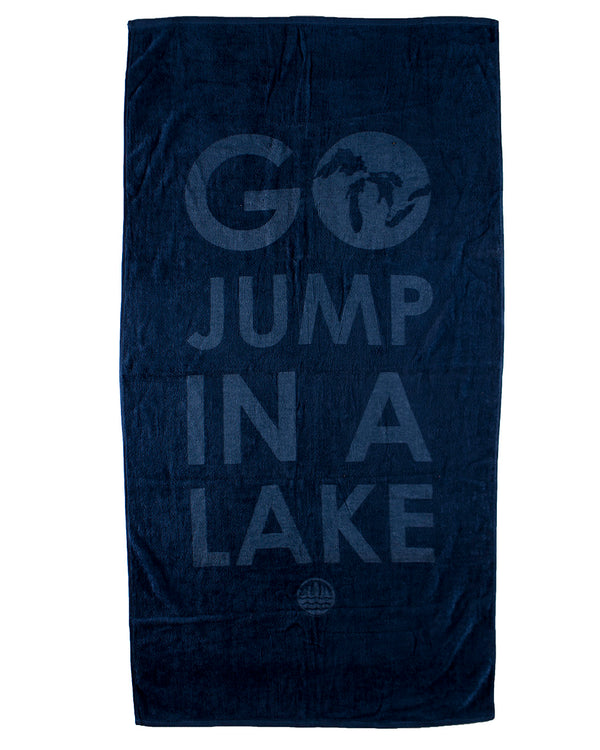 Go Jump In A Lake Beach Towel