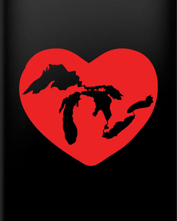 'Lake Lover' Great Lakes Heart Vinyl Decal sticker