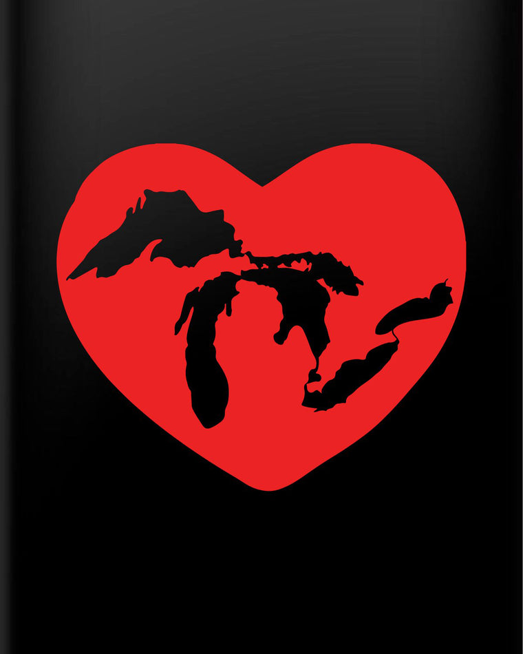 'Great Lakes Heart' Vinyl Decal sticker