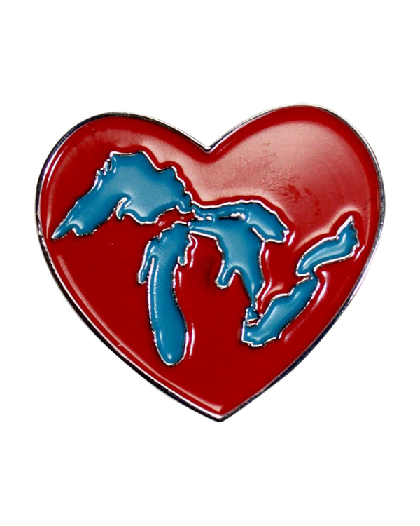 Great Lakes Heart Enamel Pin