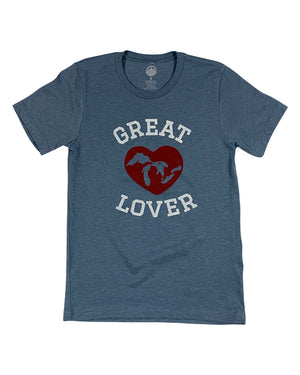 "Great ""Lakes"" Lover - Unisex T-Shirt - Heather Slate"