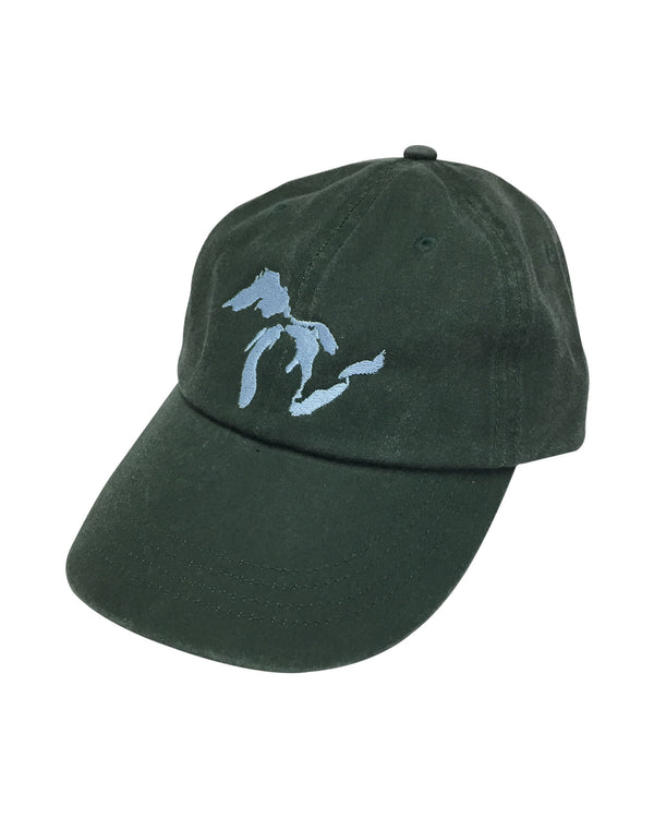 Great Lakes Pine Green Pigment Dyed Dad Hat