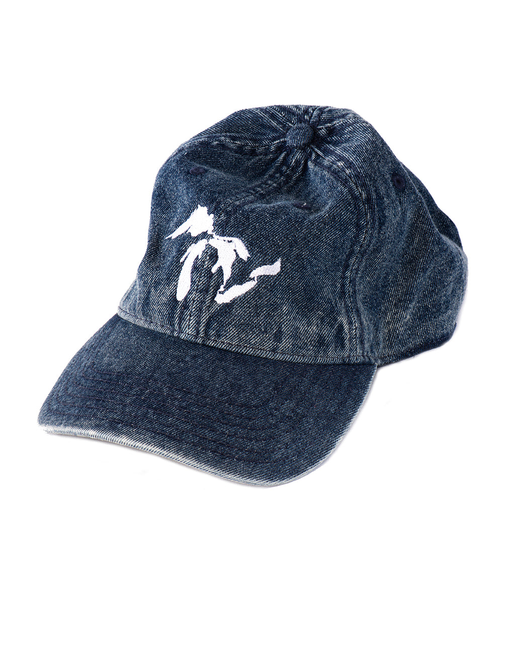 Great Lakes Snow Washed blue denim Dad Hat - The Great Lakes State