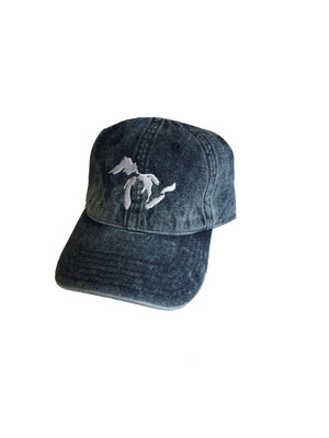 Great Lakes Snow Washed Blue Denim Dad Hat