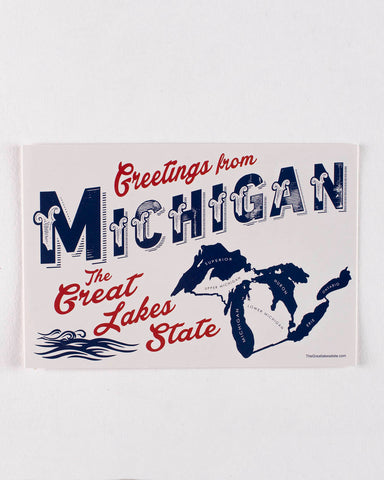 Michigan Post Card - The Great Lakes State