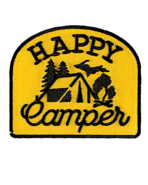 Happy Camper Michigan iron on patch - The Great Lakes State