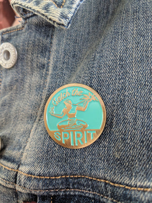 Catch The Spirit of Detroit Enamel Pin