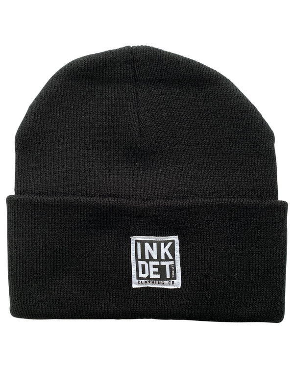 INK DETROIT Knit Beanie Black