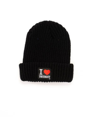 I Love Detroit - Lumberjack Knit Beanie with Cuff