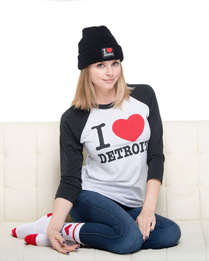 I Love Detroit Crew Socks - The Great Lakes State
