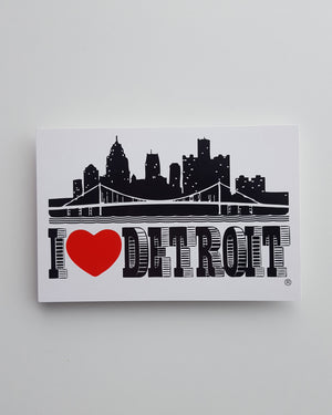 I Love Detroit Postcard