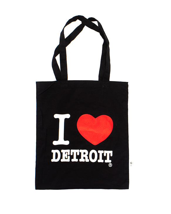 I Love Detroit Tote Bag - Black - The Great Lakes State