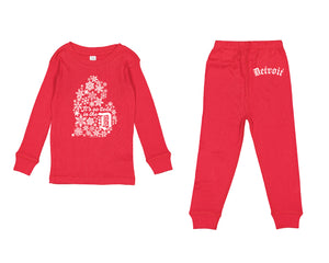 It's so cold in the D - Toddler Pajama set - Red