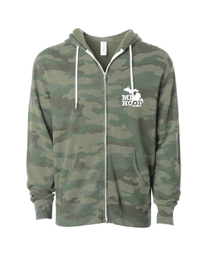 MI Hood Faded Camo Zip Up Hoodie - The Great Lakes State