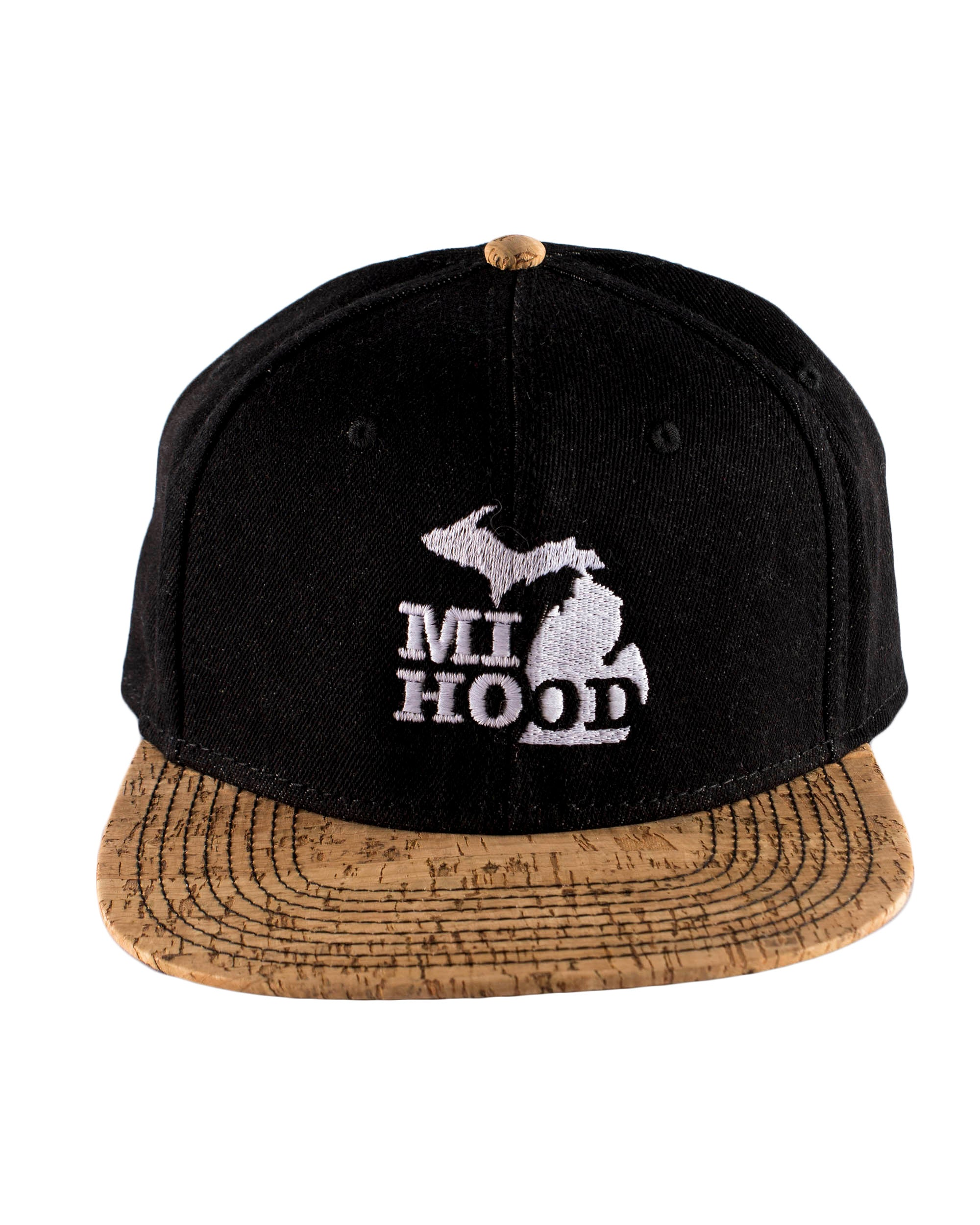 b11769fd72a MI Hood Denim   Cork Snapback - The Great Lakes State