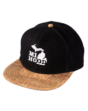 MI Hood Denim & Cork Snapback