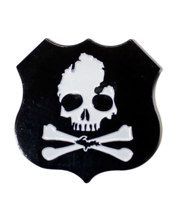 Michigan Skull & Bones Enamel Pin