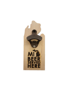 MI Beer Magnetic beer bottle opener - The Great Lakes State
