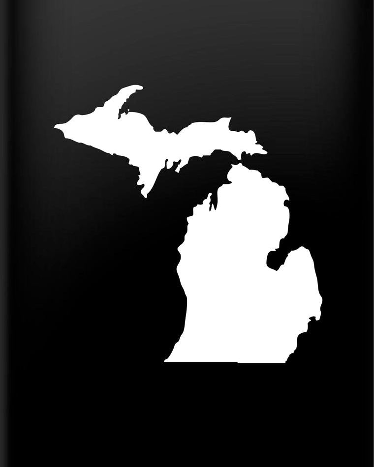 Michigan Vinyl Decal Sticker - The Great Lakes State