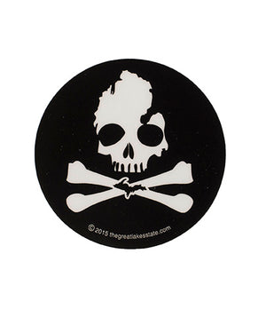 Michigan Skull & Bones Sticker - The Great Lakes State