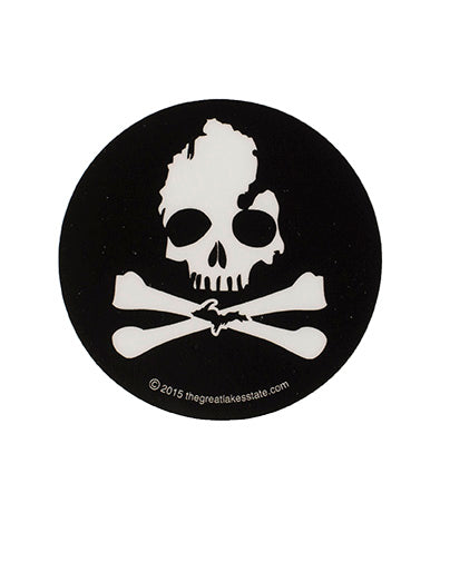 Michigan Skull & Bones Sticker