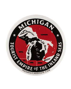 Michigan Tourist Empire of the Inland Seas sticker - The Great Lakes State
