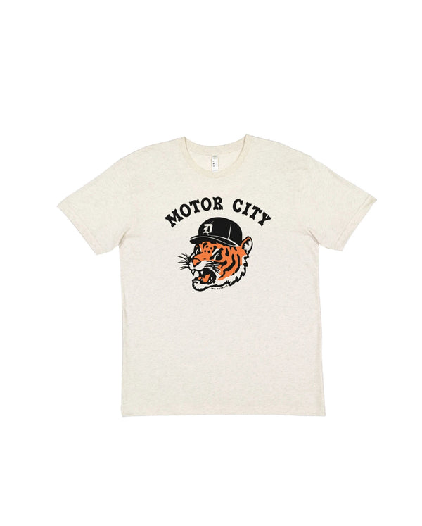 Motor City Kitty - Youth T-Shirt - Natural Heather