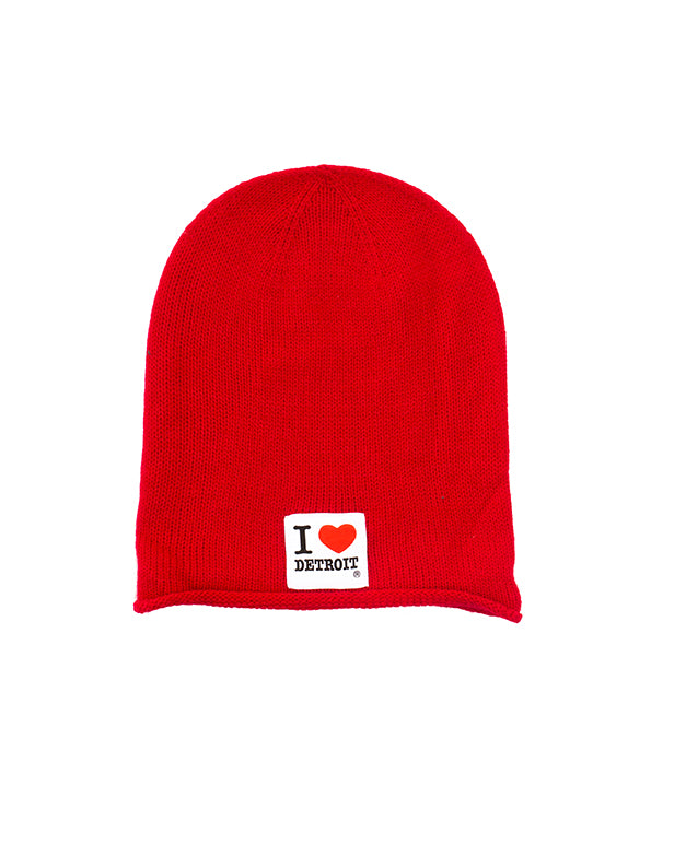 I Love Detroit - Oversized Knit Beanie
