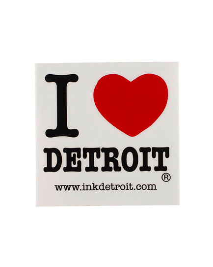 I Love Detroit Bumper Sticker