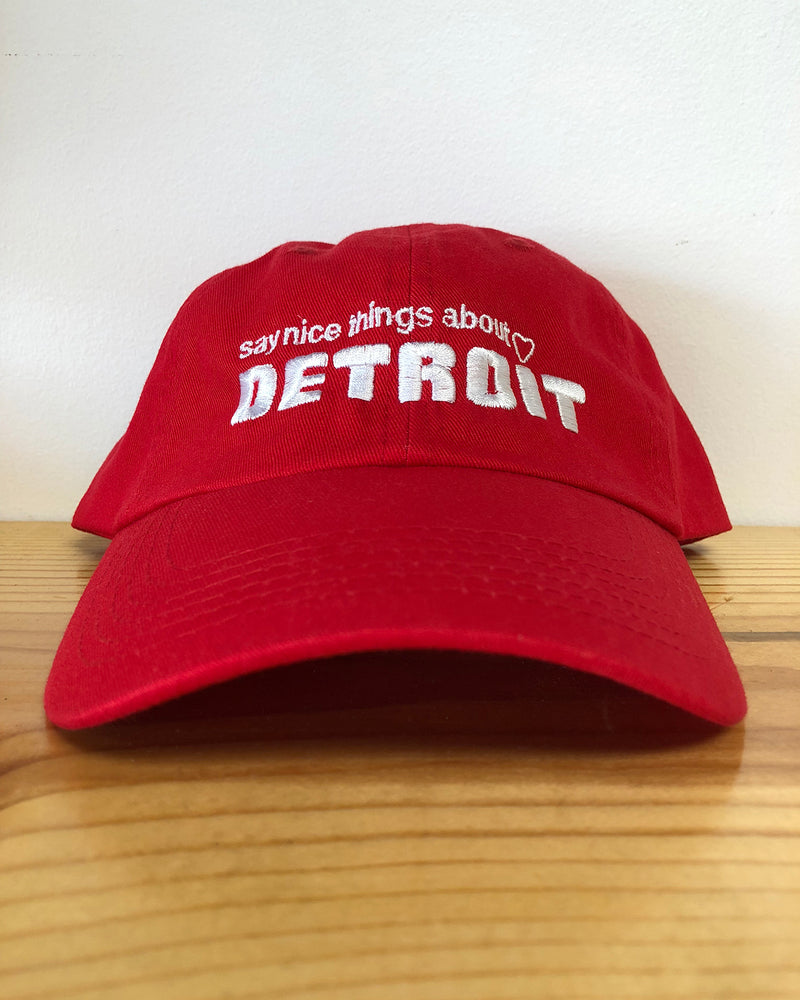 Say Nice Things About Detroit Dad Cap - Red - The Great Lakes State