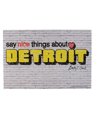 Say Nice Things About Detroit Postcard - The Great Lakes State