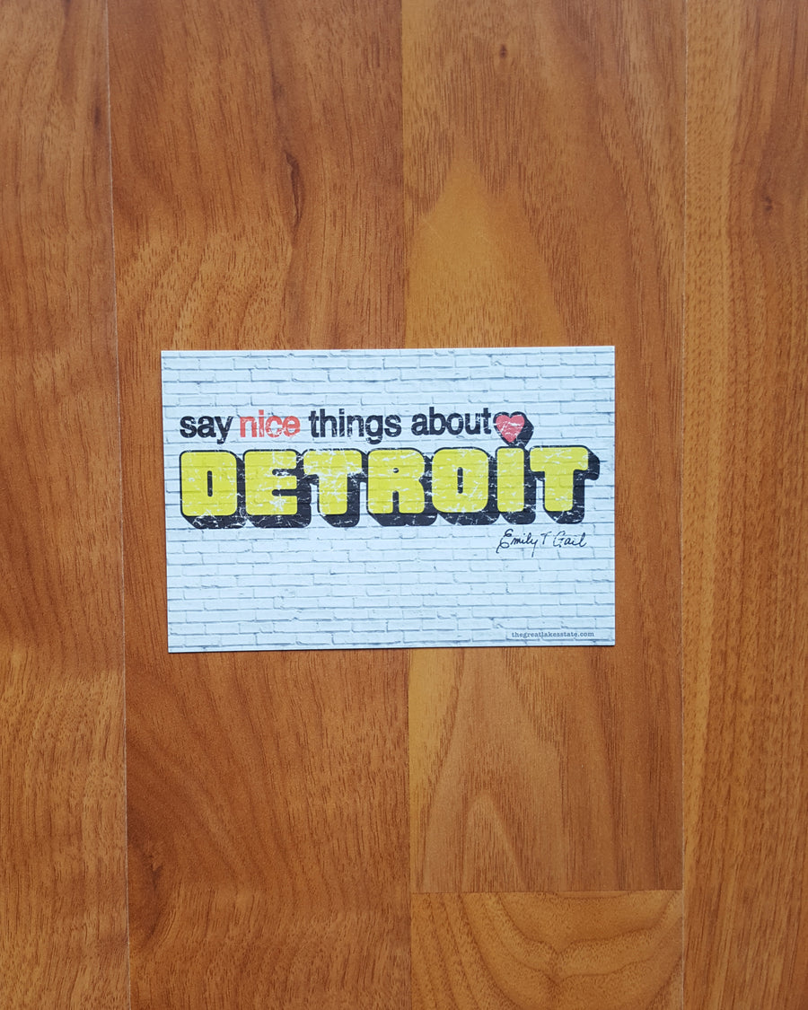 Say Nice Things About Detroit Postcard