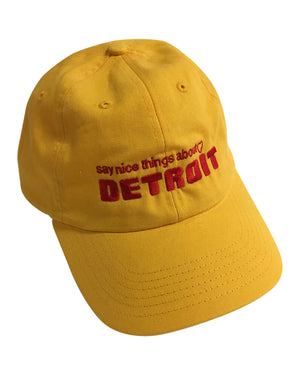 Say Nice Things About Detroit Dad Cap - Yellow