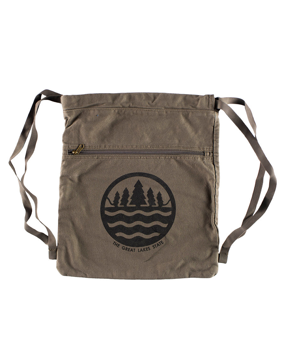 ec3026af6 The Great Lakes State Canvas Cinch-Sack