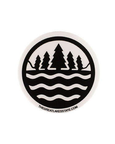 The Great Lakes State Logo Sticker - The Great Lakes State