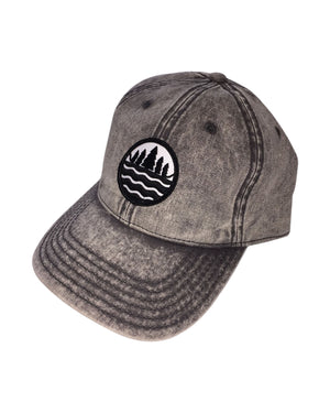 The Great Lakes State Snow Washed Grey Denim Emblem Cap