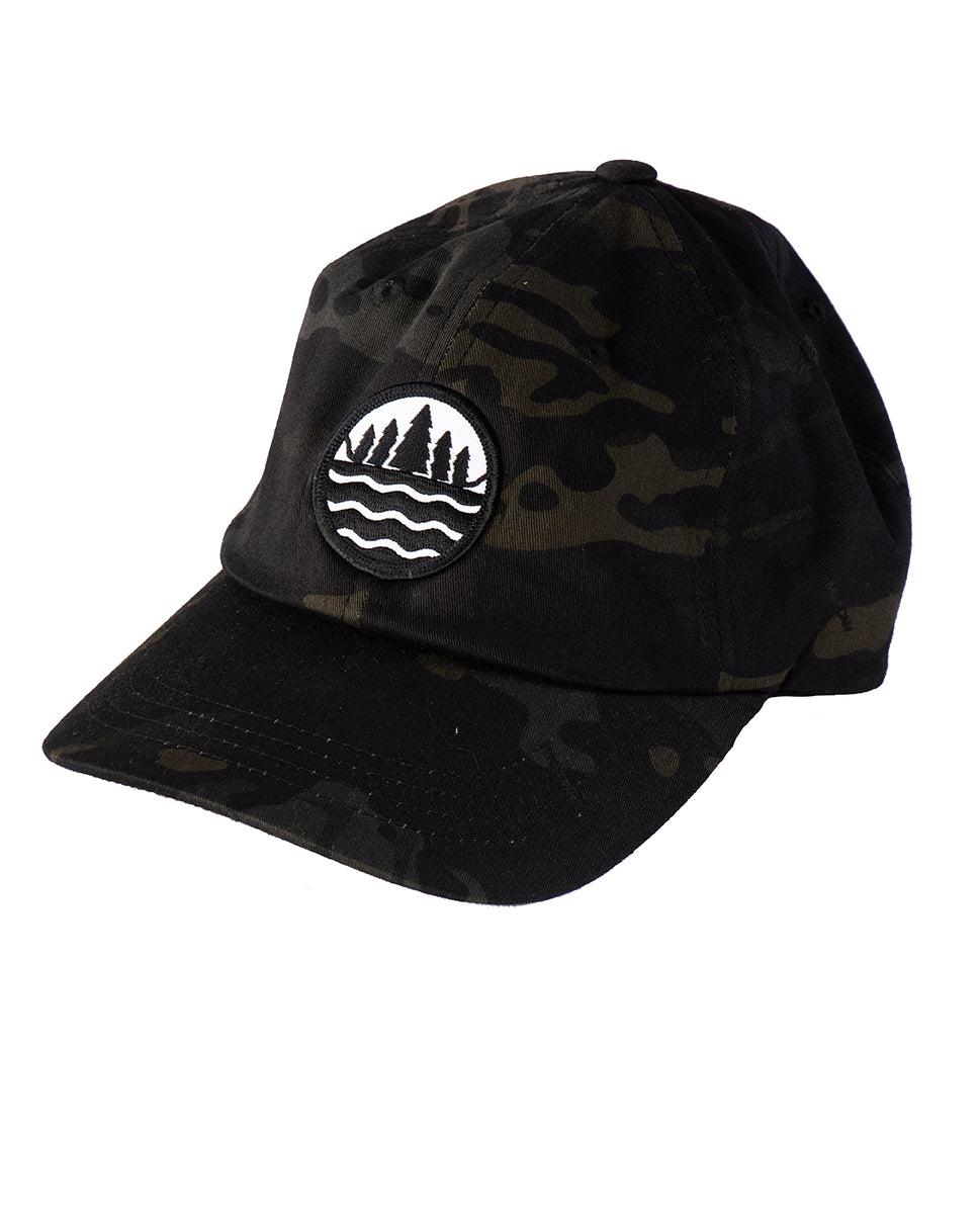 4f370b63aed The Great Lakes State black low profile Multicam camo cap