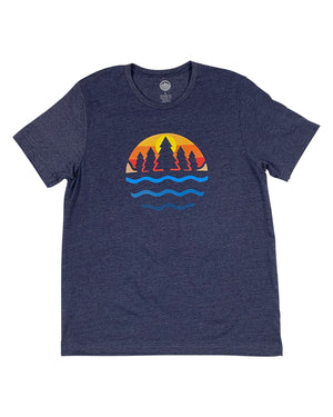 TGLS The Great Lakes State color Logo Unisex T-Shirt - Heather Navy