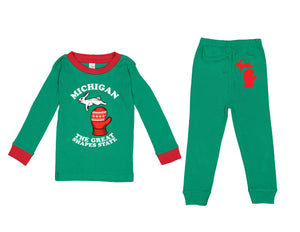 The Great Shapes State - Toddler Pajama set - Green
