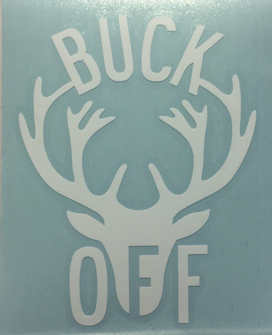 Buck Off Vinyl Decal sticker - The Great Lakes State