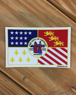 Detroit City Flag Vinyl bumper sticker - The Great Lakes State