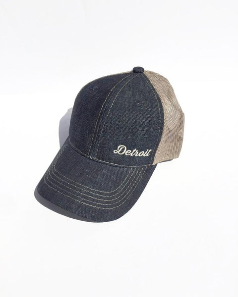 Detroit Denim & Mesh-Back Cap - The Great Lakes State