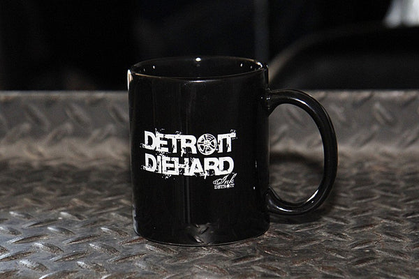 Detroit Diehard Black Coffee Mug - The Great Lakes State